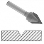 49151 60 Degree V Groove Bit (Solid Carbide)