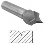 49153 Point Cutting Roundover Bit 1/4 Shank