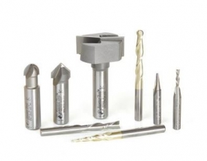 Amana Tool AMS-133 8-Pc CNC Signmaking Starter Router Bit Collection #III