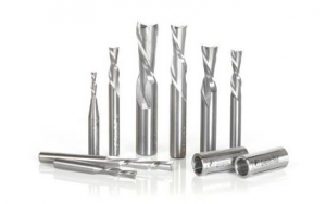 Amana Tool AMS-123 8-Pc CNC Solid Carbide Down-Cut Spiral Router Bit Collection