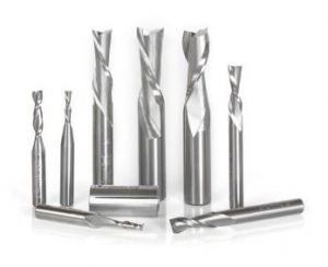 Amana Tool AMS-125 8-Pc CNC Solid Carbide Up-Cut and Down-Cut Spiral Router Bit Collection