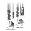 Amana CNC Solid Carbide Multi-Helix Spiral with AlTiN Coating Up-Cut Router Bits/End Mills for Steel & Stainless Steel Cutting
